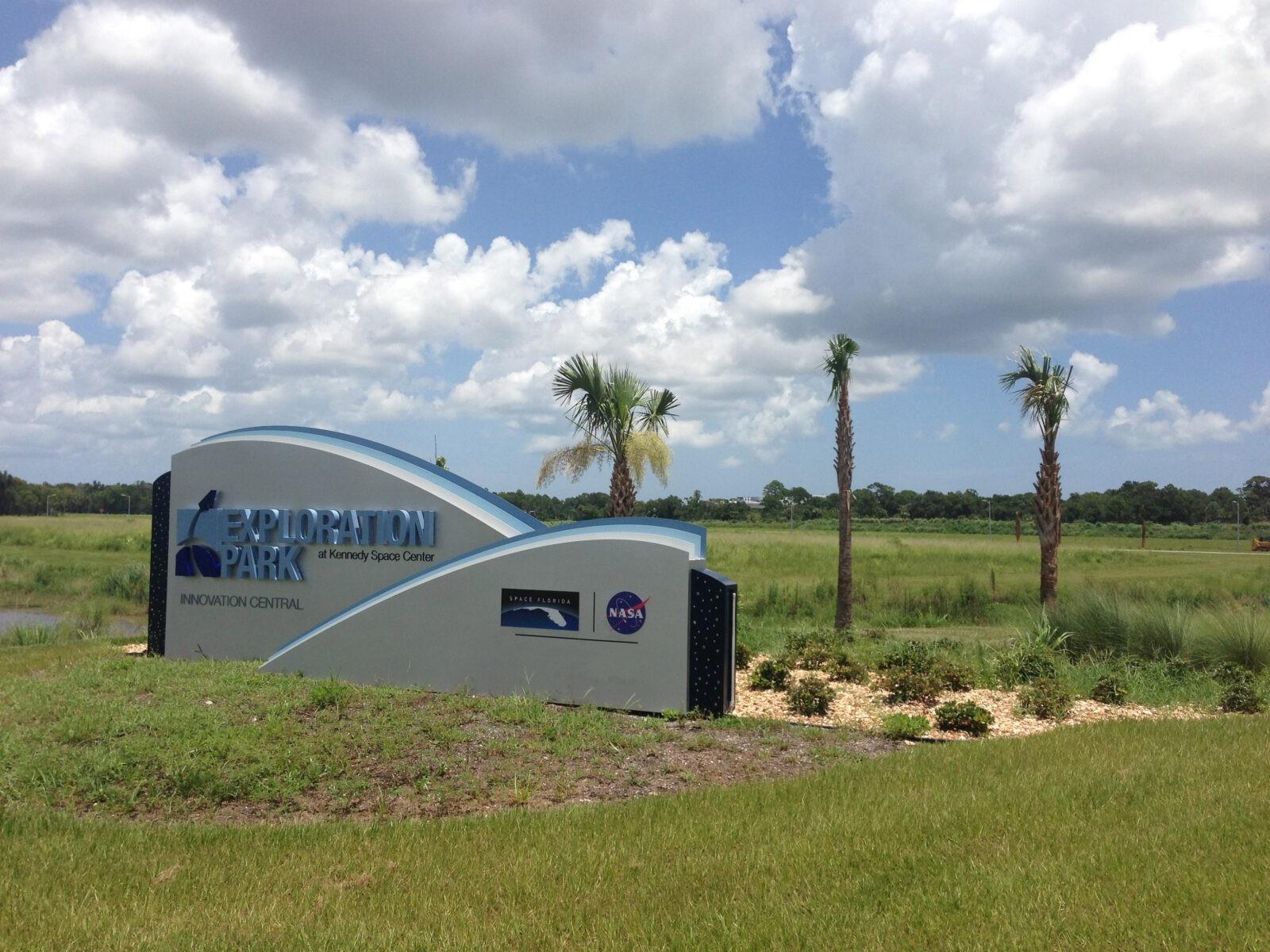 Exploration Park Sign