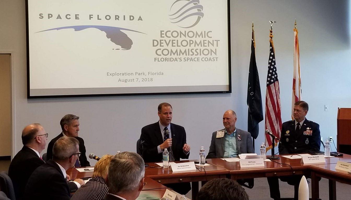 NASA Administrator Jim Bridenstine Meets with Aerospace Industry Leaders in Brevard County