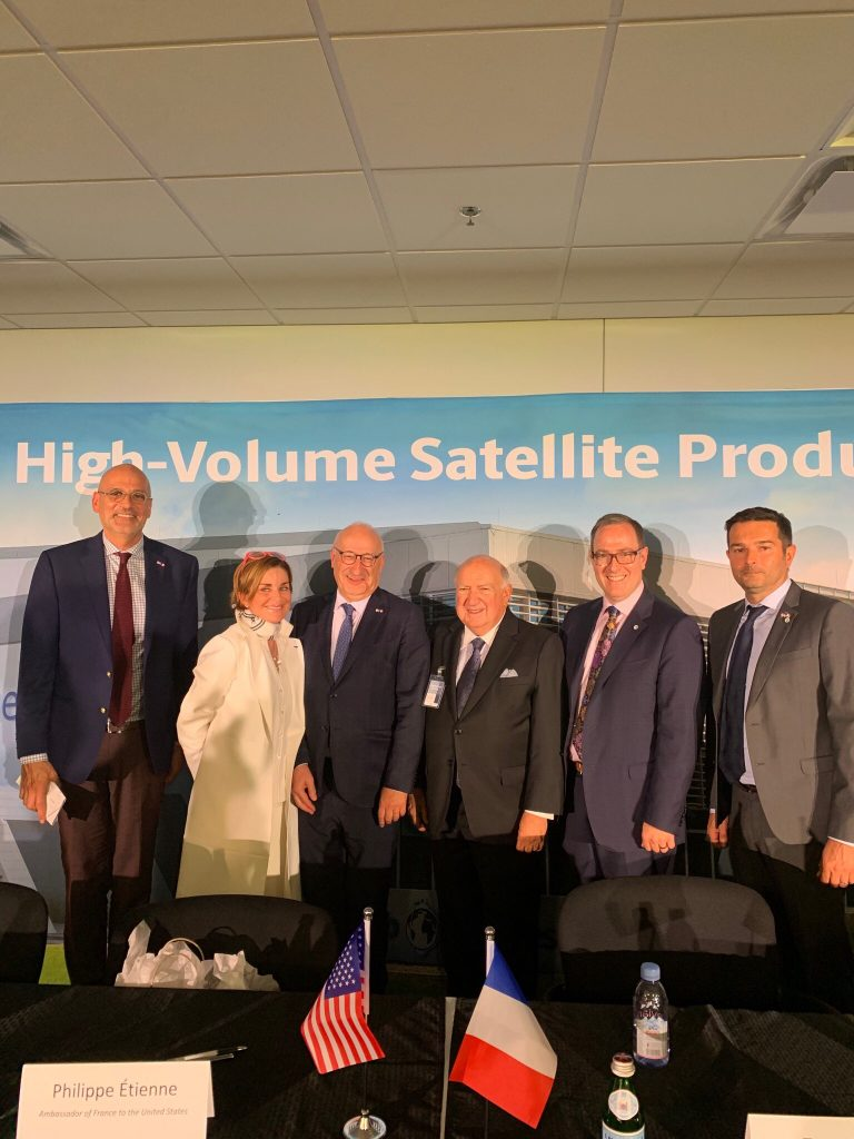 French Ambassador Witnesses Signing at OneWeb Satellites