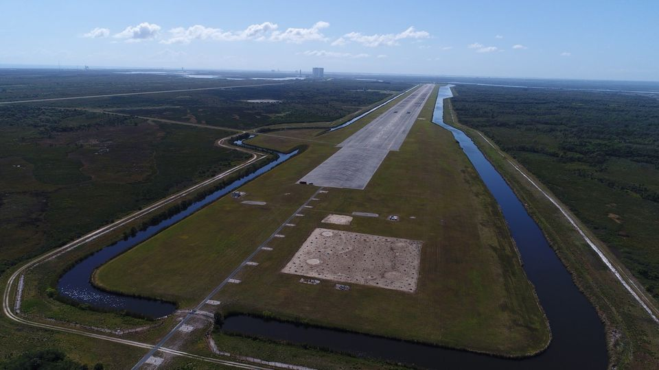 Aerial Photo of Shuttle Landing Facility